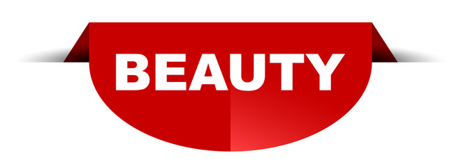 red vector round banner beauty