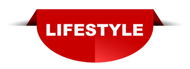 red vector round banner lifestyle