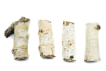 Birkenzweig Birkenast Birken isoliert freigestellt auf weißen Hintergrund, Freisteller