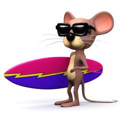 Vector 3d Mouse surfer