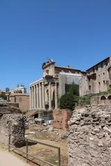 Forum Romanum the Temple of Antoninus Pius and Faustina in Rome Italy