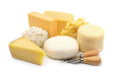Photo sur Plexiglas Produit laitier Various types of cheese