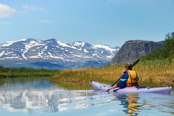 Paddling at the gates of Sarek