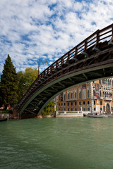 Bridge across Venice's Grand canal; Italy