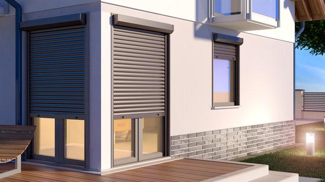 Window roller illustration - house 9