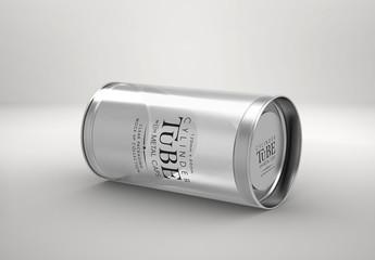 Metal Cylinder Mockup
