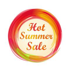 Hot summer sale lettering design. Summer sale banner. Vector illustration