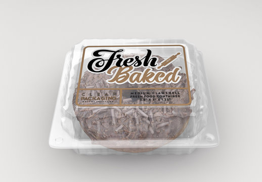 Clear Clamshell Food Container Mockup