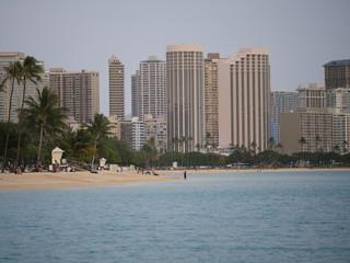 Hotels view of Waikiki from ala Moana beach park