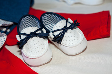 Shoes for a newborn baby