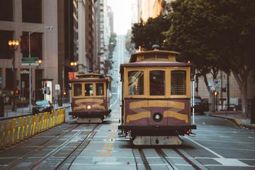 San Francisco Cable Cars on California Street, California, USA