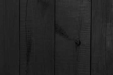 Black Background Wood Pattern / Texture of wooden boards surface