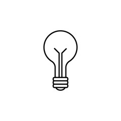 bulb icon. Element of education icon for mobile concept and web apps. Thin line bulb icon can be used for web and mobile