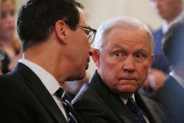 U.S. Attorney General Jeff Sessions is seen ahead of U.S. President Donald Trump introducing his Supreme Court nominee in the East Room of the White House in Washington