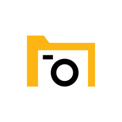 File Camera Logo Design Template