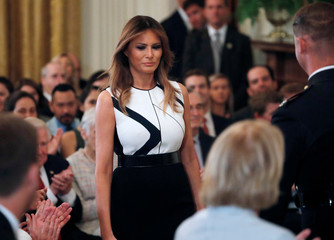 U.S. first lady Melania Trump is seen President Trump introduces Supreme Court nominee in Washington