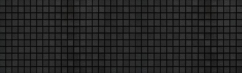 Panorama of Black mosaic pattern and seamless background