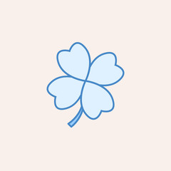 clover icon. Element of casino icon for mobile concept and web apps. Field outline clover icon can be used for web and mobile