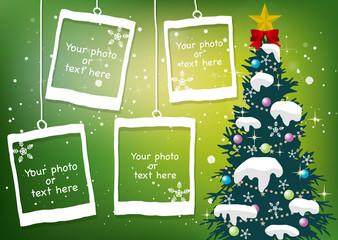 クリスマス・新年の背景素材11