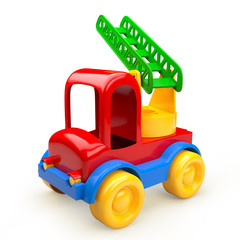 Car toy with stairs