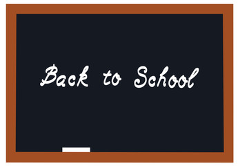 Vector Blackboard Back to School