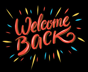 Welcome. Hand drawn vector calligraphy brush.