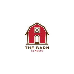 Red barn logo design template