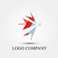 archer symbol, vector logo, sign, or symbol concept for startup company