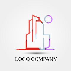 building vector logo, symbol, icon for logo company
