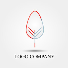 tree simple logo design, vector logo, symbol, icon for logo company