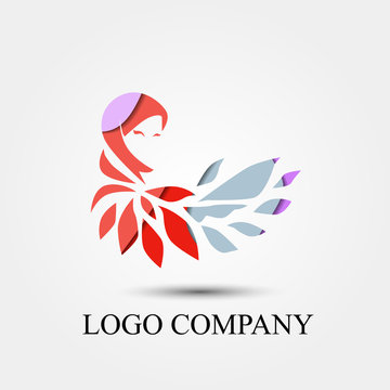 hijab story logo concept is mean veil company, vector logo, sign, or symbol concept for startup company