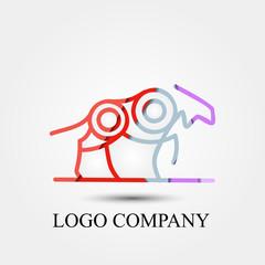 dog hunter vector logo, sign, or symbol concept for startup company