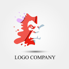 ape vector logo, sign, or symbol concept for startup company