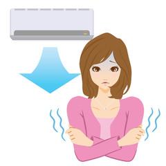 エアコン 冷え性 女性