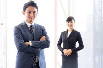 portrait of asian businessgroup in office