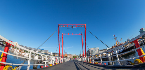 Brücke in Kiel an der Kieler Förde über die Hörn