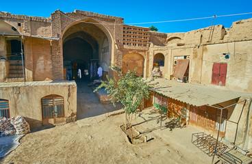 Remains of medieval Caravanserai in Kerman, Iran