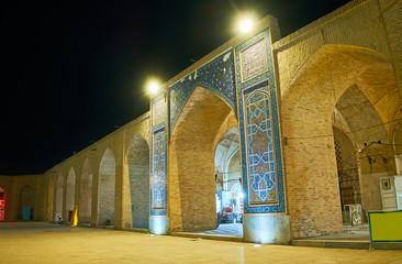 Evening in Kerman Grand Bazaar, Iran