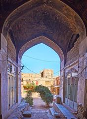 The places of interest in Kerman Grand Bazaar, Iran
