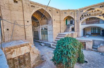 The old Hindu Caravanserai in Kerman, Iran