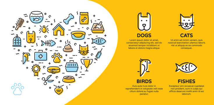 Vector Pet Icon Banner Template