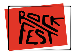 Music festival lettering