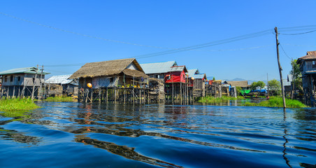 Floating village on Inle Lake, Myanmar