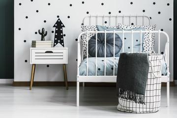 Scandi kid's bedroom interior