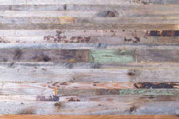 Rough weathered wooden board. Rustic texture for background