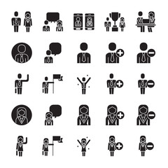 Vector set of business people icons