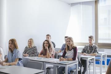 High School Students at Classroom