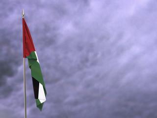 Flag of the Sahrawi Arab Democratic Republic hanging down dangling