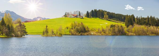 Wall Mural - Frühling im Allgäu bei Füssen
