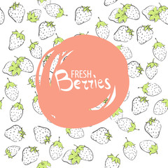 sweet strawberries background